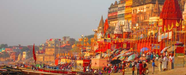 Tour to Ghats of Varanasi with Golden Triangle Tour Package
