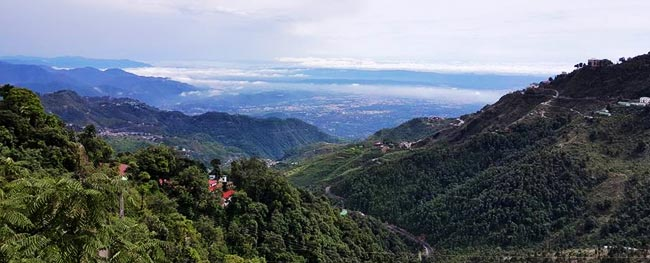 View of Mussoorie Hill Station from Mussoorie Hotel