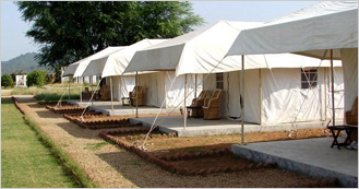 The Fort View Camp at Alwar near by Sariska National Park